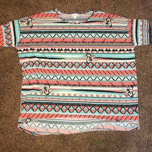 {LuLaRoe} Disney Goofy Irma Tunic Top Shirt